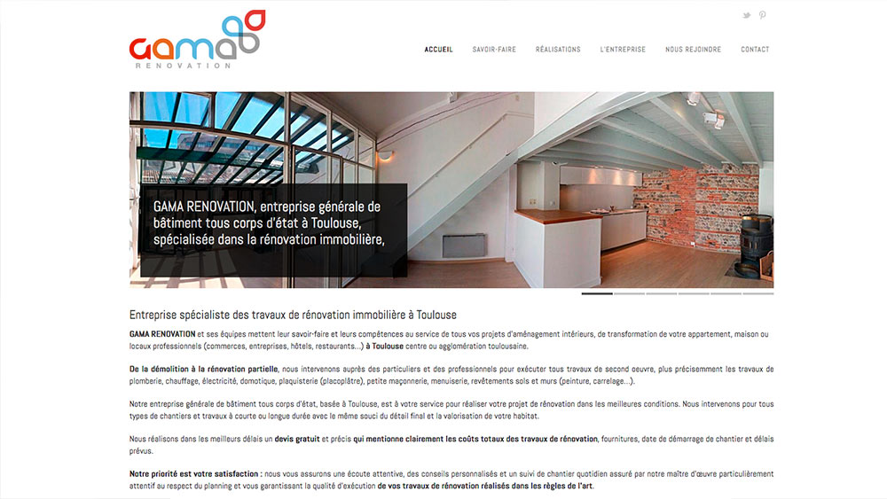 site-web-GamaRenovation-Toulouse